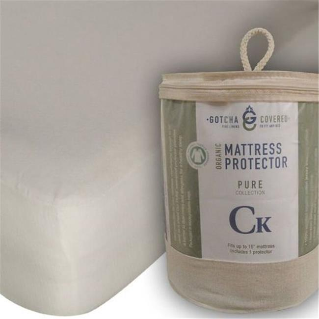 Gotcha Covered Pure Mattress Protector, Organic Jersey - Split King 38x80 - 1 Pair - image 1 of 1
