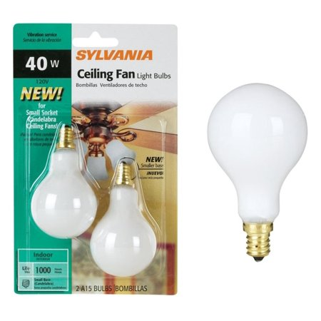 syl ceiling fan bulb 40w size 2ct syl ceiling fan bulb 40w wht 2ct color finish soft white by. Black Bedroom Furniture Sets. Home Design Ideas