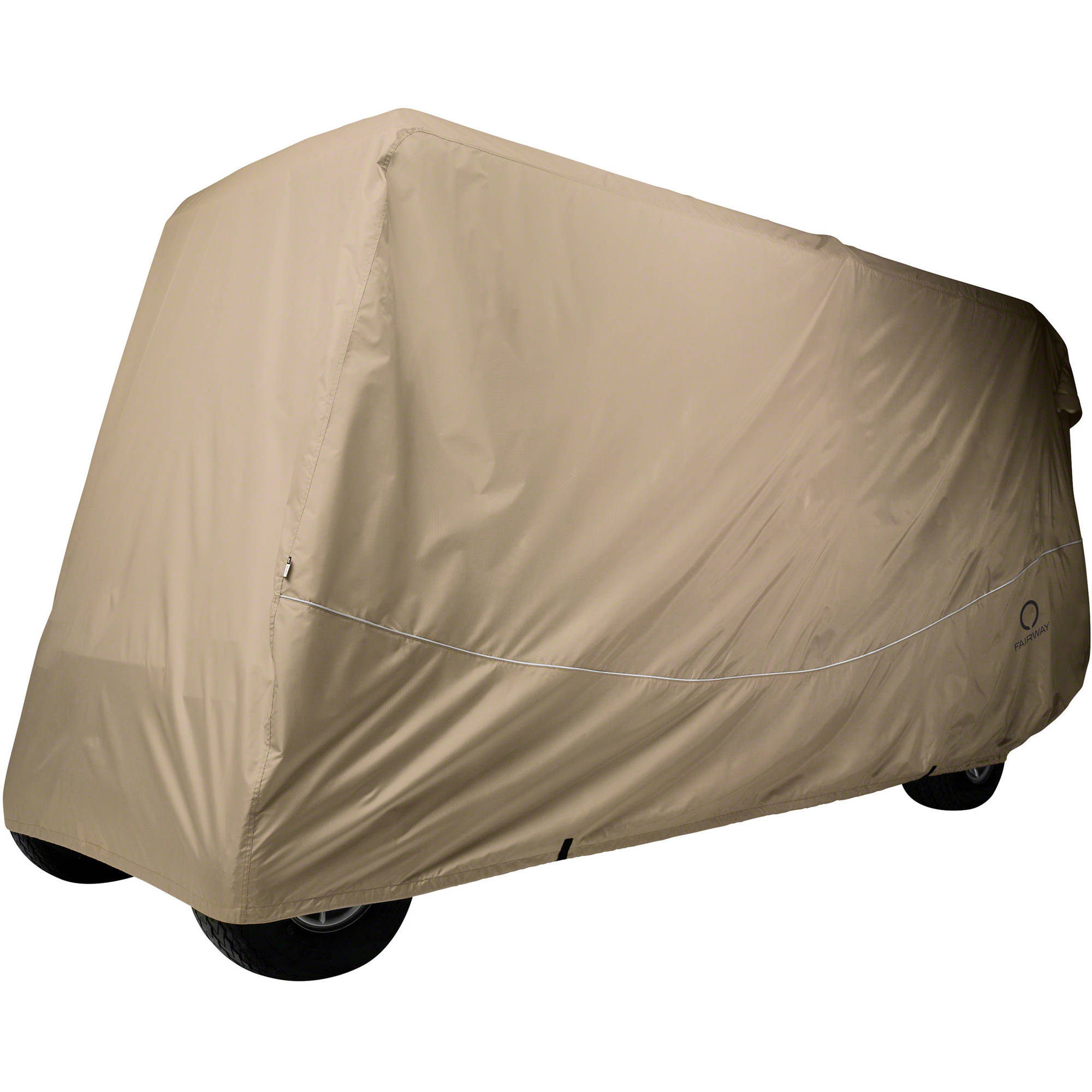 Classic Accessories Fairway Golf Car Quick-Fit Cover, 6 Passenger, Khaki