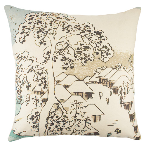 TheWatsonShop Chinoiserie Cotton Throw Pillow