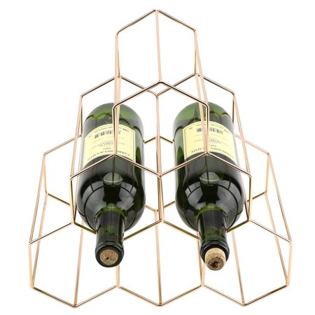 Ejoyous Modern Geometric Shape Wine Rack Holder Metal Home Bar ...