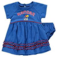 Kansas Jayhawks Colosseum Girls Infant Plucky Dress and Bloomer Set - Royal