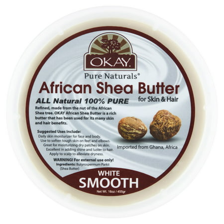 Okay Pure Naturals White Smooth African Shea Butter, 16 oz Pacifica Natural Body Butter