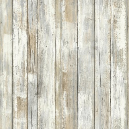 RoomMates Distressed Wood Peel and Stick Wall Décor Wallpaper Adhesive Peel Off Borders