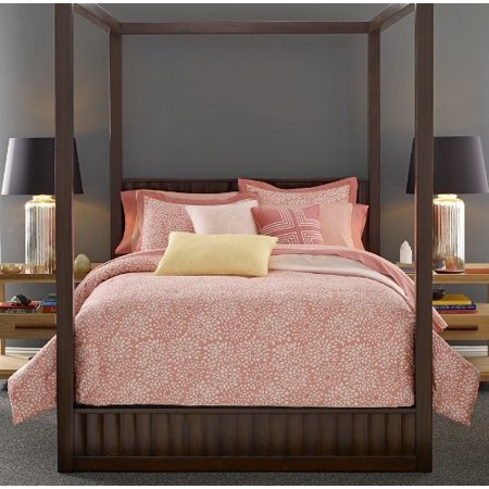 Thom Filicia 8 Piece Floral Bed Ensemble, Queen, Pink