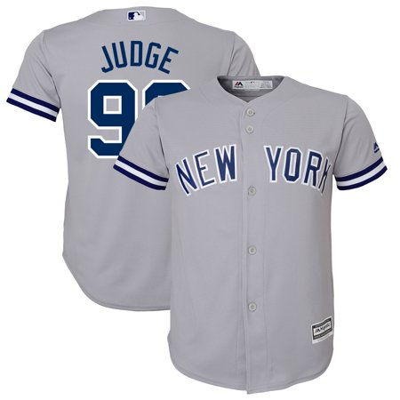 Aaron Judge New York Yankees Majestic Youth Road Official Team Cool Base Player Jersey - Gray