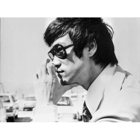Bruce Lee Posed in Suit and Tie with Sun Glasses Print Wall Art By Movie Star News - Pope Suit