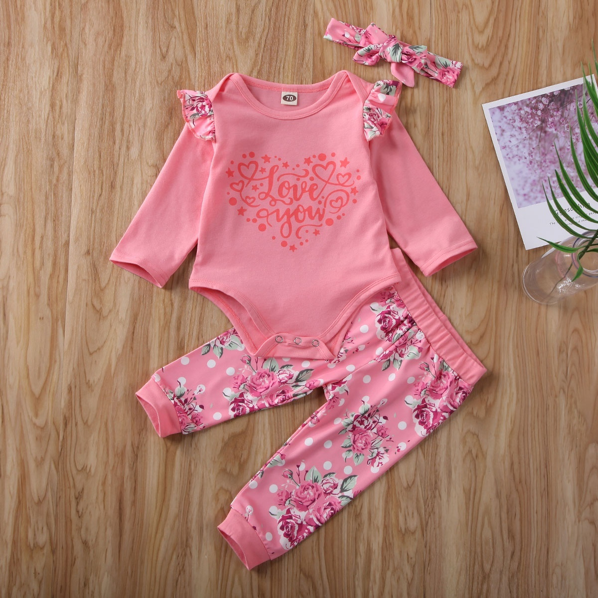 NEW Toddler Baby Girls Boys Long Sleeve Valentine Day Love-heart Romper Jumpsuit
