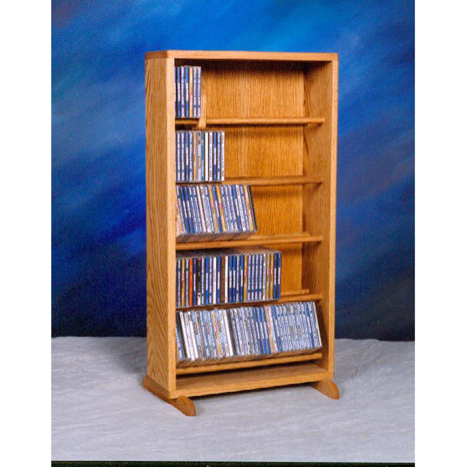 The Wood Shed Solid Oak Dowel 220 CD Media Cabinet