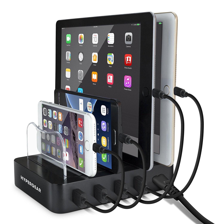 4-Port Multiple USB Charging Station Dock and Organizer C...