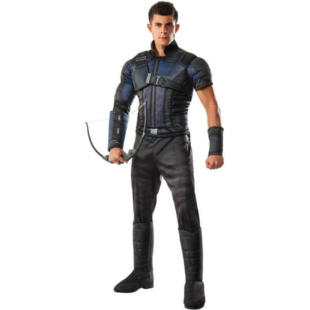 Marvel's Captain America: Civil War Deluxe Muscle Chest Hawkeye Men's Adult Halloween Costume, One Size - Mens Hawkeye Costume