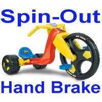 """The Big Wheel """"Spin-Out"""" Racer 16"""" Trike w/ Hand Brake"""