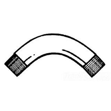 Galvanized Round Elbow - ELB-GALV-2-1/2-90-DEGREE Galvanized Steel 90 Degree Rigid Conduit Elbow 2-1/2 Inch