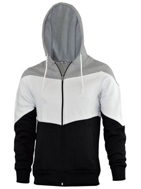 1e9a59ab Product Image SKYLINEWEARS Mens Novelty Color Zip Hoodie Sport Outwear  Fashion Sweatshirt Gray L