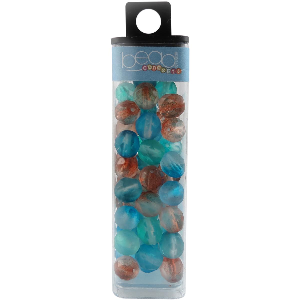 Square Tube Glass Beads 2oz-Fire Polished Evelina Mix