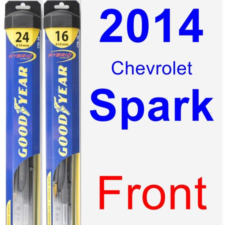 2014 Chevrolet Spark Wiper Blade Set/Kit (Front) (2 Blades) - Hybrid - Bladed Spear