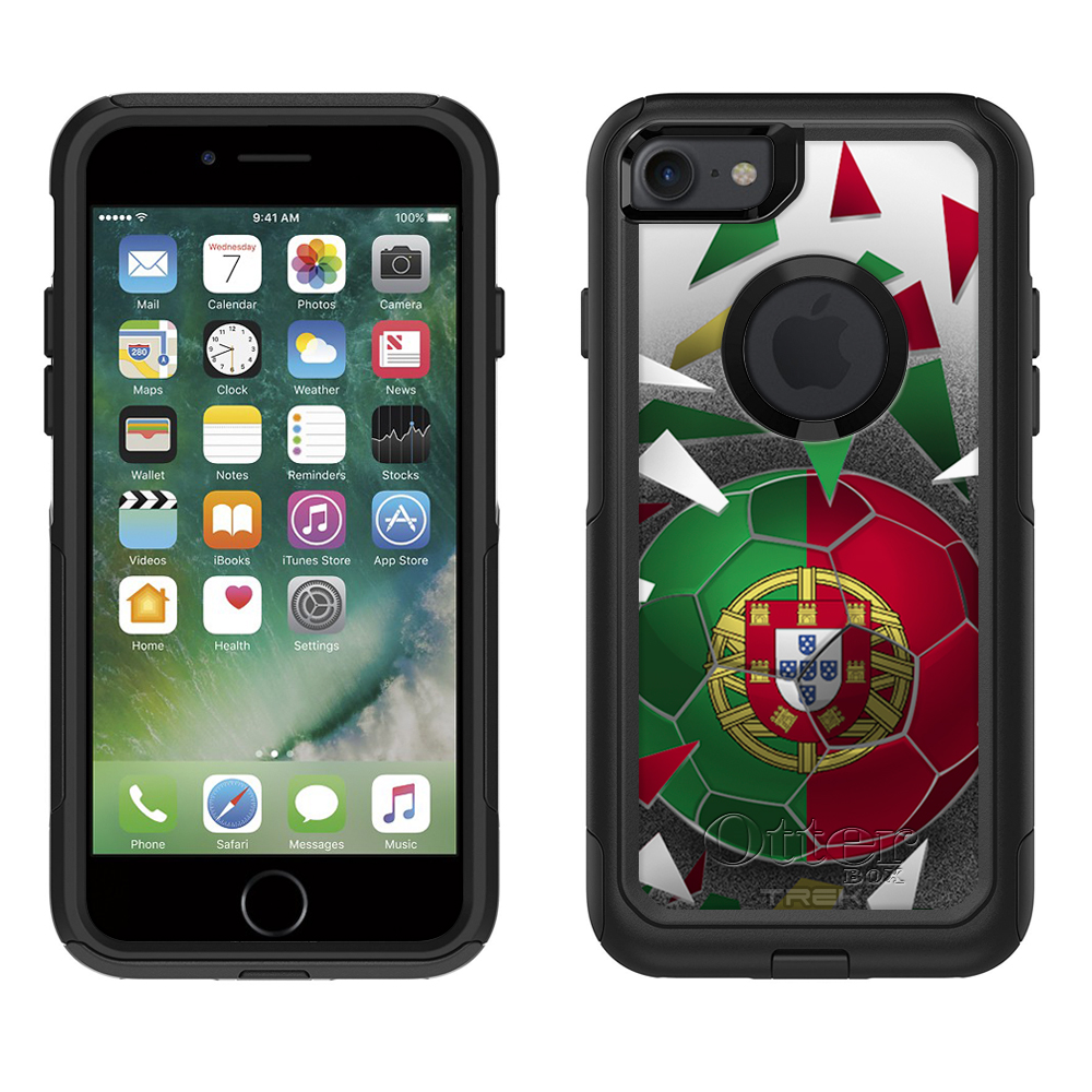 Otterbox Commuter Apple iPhone 7 Case Soccer Ball Portugal Flag Apple iPhone 7... by Trek Media Group