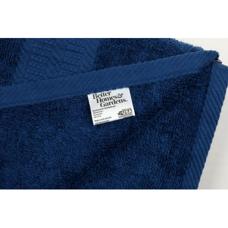 Better Homes & Gardens American Made Bath Collection - Single Bath Towel, Solid Blue