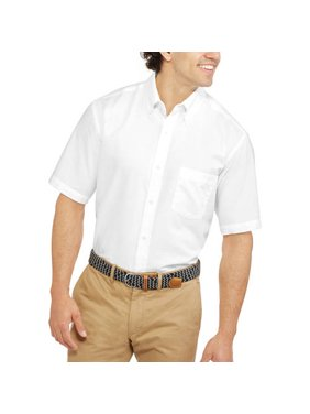George Men's and Big Men's Short Sleeve Oxford Shirt up to 3XL