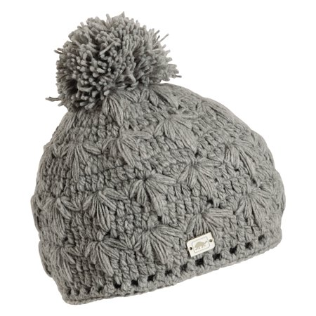Turtle Fur Lifestyle - Rhoda, Hand Crocheted Pom Beanie Fully-Lined w/micro fleece Fully Lined Hat