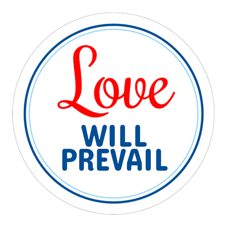 Circle Stickers - Love Will Prevail - Set of 12
