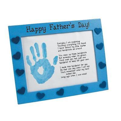 IN-48/5142 Father's Day Handprint Frame Craft Kit Makes 6 - Father's Day Arts And Crafts