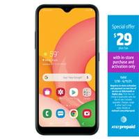 AT&T Prepaid SAMSUNG Galaxy A01 16GB Prepaid Smartphones, Black