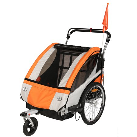 Clevr Double Bicycle Baby Kid Child Trailer Bike Jogger ...