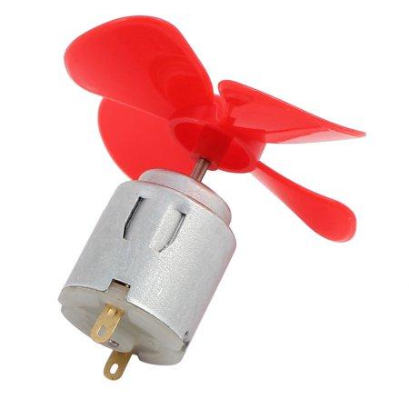 DC 1.5V 2000rpm Red Plastic 4-Vanes Prop Motor for DIY RC Cars Boats - image 3 de 5
