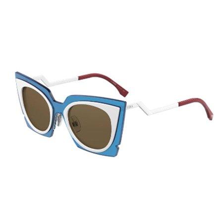 fendi ff0117s ic4ut womens turquoise/white 49 mm sunglasses