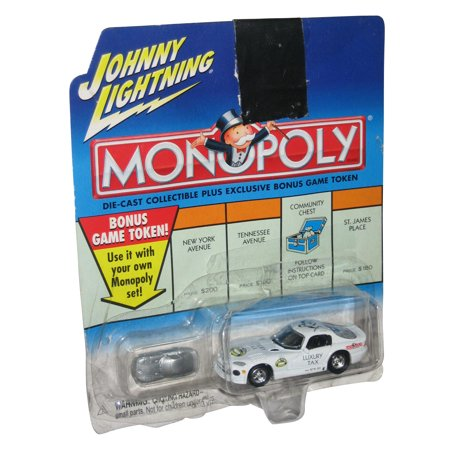 Johnny Lightning Monopoly Luxury Tax Dodge Viper Car Die-Cast Toy Car w/ Token
