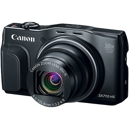 Canon Black PowerShot SX710 HS Digital Camera with 20.3 Megapixels and 30x Optical Zoom