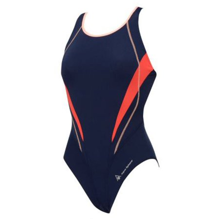 232ebb0de1 Aqua Sphere Camelia Ladies Open Back Swimsuit in Black/Bright Orange, Size  36 - Walmart.com