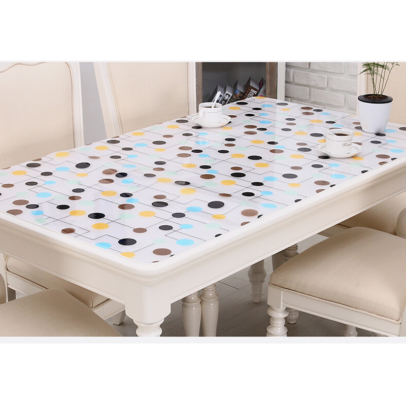 Better Tablecloth, Outgeek Plastic Vinyl Clear Heavy Duty Waterproof Rectangle Tablecloth Table Cover Mat for Dinner Tea Table Desk Home Garden Decor