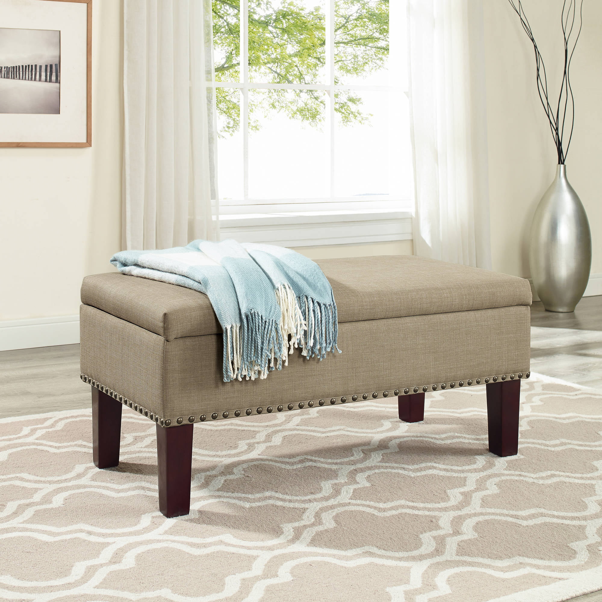 Better Homes And Gardens Grayson Ottoman Storage Bench   Walmart.com