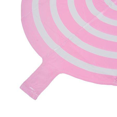 Unique Bargains Festival Anniversary Foil Round Design Inflation Balloon Pink 18 Inches 4pcs - image 4 de 5