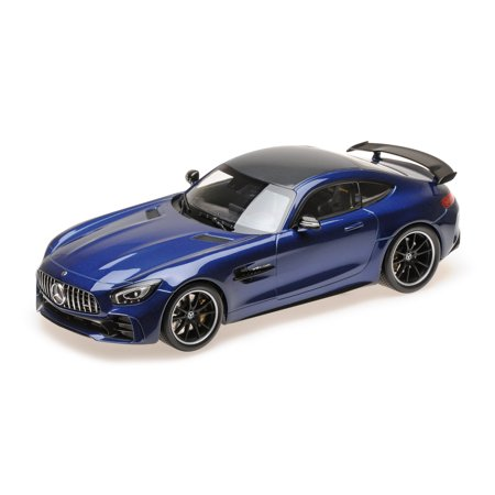 2017 Mercedes AMG GT-R Metallic Blue with Black Top Limited Edition to 402 pieces 1/18 Diecast Model Car by Minichamps ()