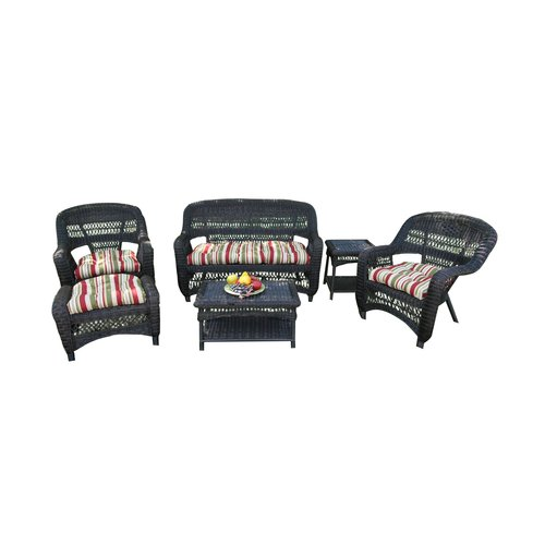 Tortuga Outdoor Portside 6 Piece Lounge Seating Group with Cushions