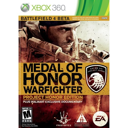 Medal of Honor Warfighter: Project Honor Ed. (Xbox 360) w/ Wal-Mart Exclusive Bonuses Global Warfighter movie and Navy Seal Sniper download