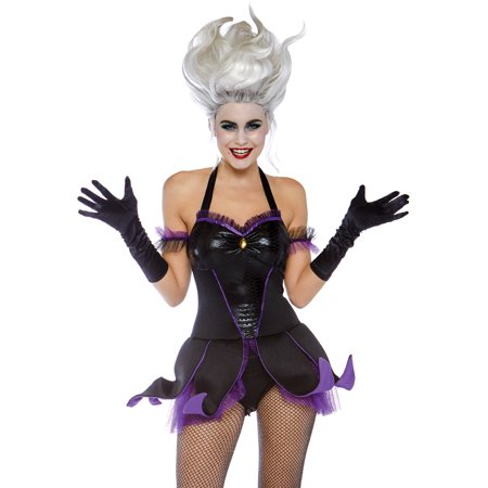 Leg Avenue Women's Ursula Sea Witch Costume, Black/Purple, Medium](Costume Ursula)