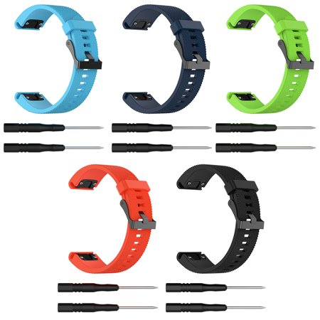 22mm Replacement Silicone Wrist Band Strap Bracelet For Garmin Fenix 5 Forerunner 935 Quatix 5 Approach S60 GPS Smart Watch