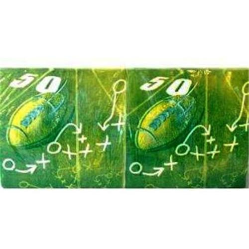 Dixie Football Dinner Napkin 50 Yard Line Design 150 P