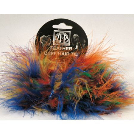 Marabou Feather - Cuffs / Hair Ties - Set of 2 - Multi - Feather Cuff