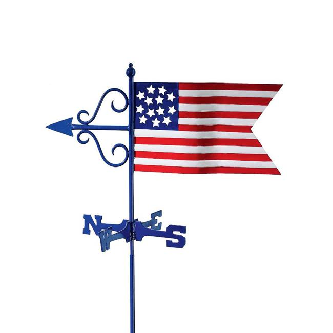 Good Directions 836G Americana Flag Garden Weathervane with Garden Pole by Weathervanes