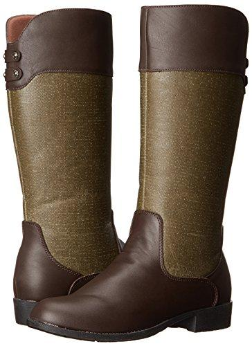 Propet Belmont Women's Tall Comfort Boots Bronco Brown Sage by Propet