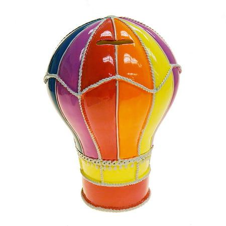Concepts in Time Hot Air Balloon Resin Coin Money Bank, D6100MU 6x9
