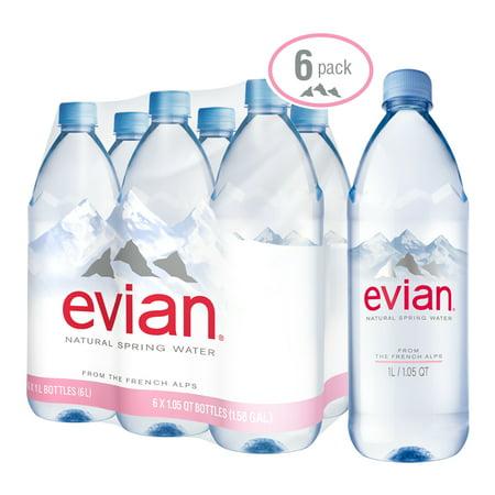 e6723d2871 Evian Natural Spring Water, 33.8 Fl. Oz., 6 Count - Walmart.com