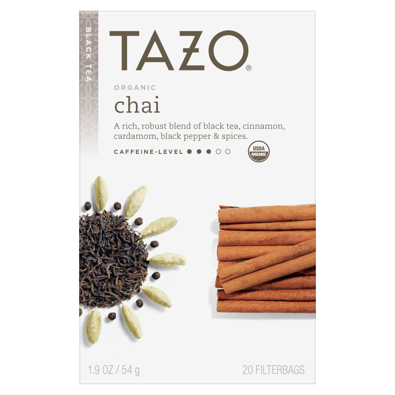 (6 Boxes) Tazo Organic Chai Tea Bags Black Tea 20ct