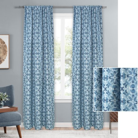 - Mainstays Geo Floral Single Curtain Panel