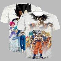 KABOER Goku 3D Print T Shirt Short Sleeve Dragon Ball Z T-Shirt Pullover Regular Men Tee